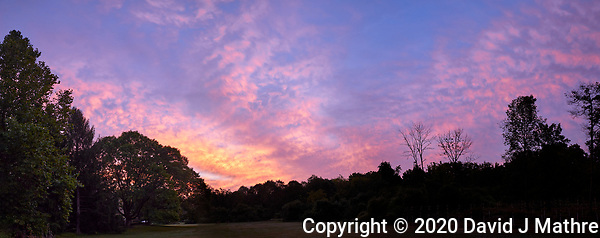 Backyard Panorama: Early Autumn Morning Colorful Clouds. (David J Mathre)